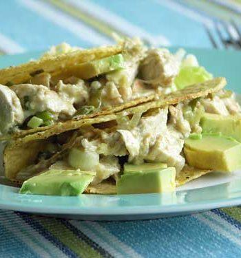 Green Chicken Tacos - Hühnchen-Tacos