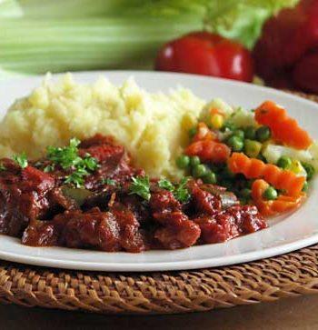 USA-Rezept für Swiss Steak - geschmortes Rindfleisch