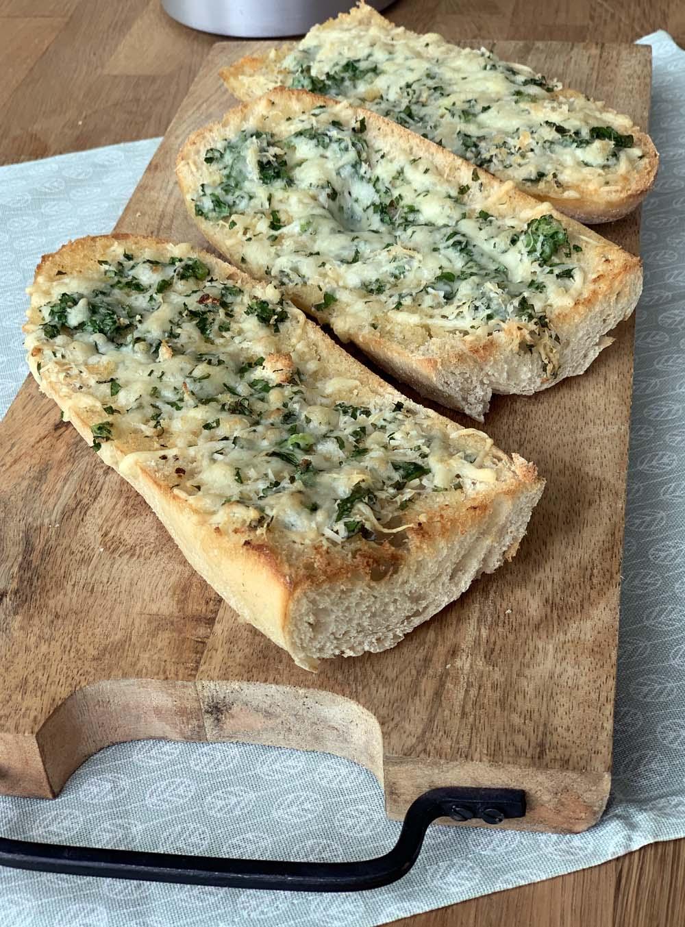 USA-Rezept für Garlic Bread wie bei Pizza Hut