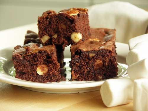 boston brownies mit marskmallows usa kulinarisch. Black Bedroom Furniture Sets. Home Design Ideas