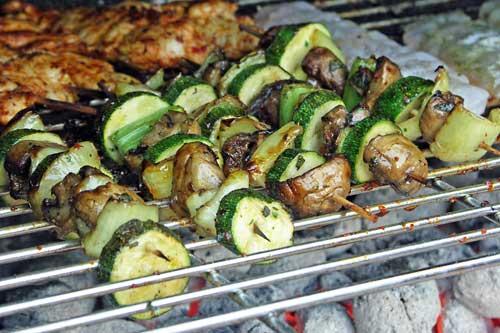 Rezept für Grilled Vegetables - Gemüsespieße vom Grill