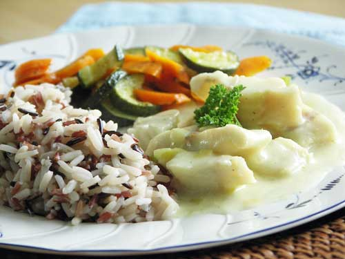 Trout in leek Sauce - Forelle in Lauchsauce
