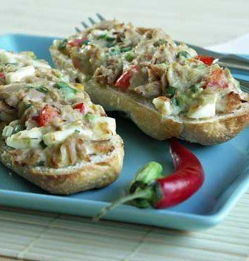 USA-Rezept für Tuna Melts - Tunfischbrötchen