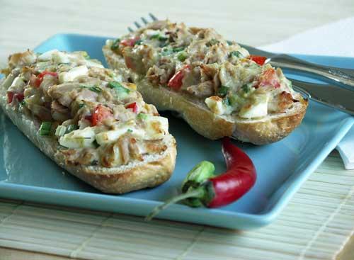 Texas Tuna Melts (überbackene Thunfischbrötchen)