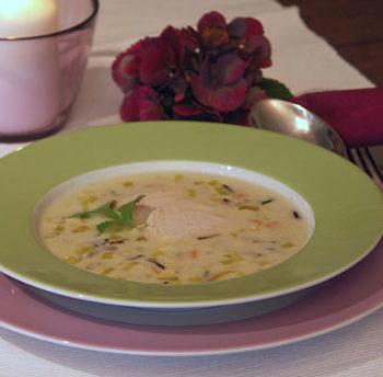 Chicken Rice Soup / Hühnersuppe mit Reis