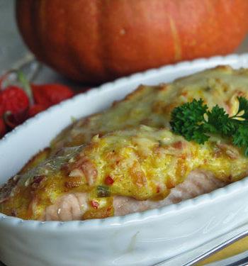 Lachs mit Kürbiskruste /SAlmon with pumpkin crust