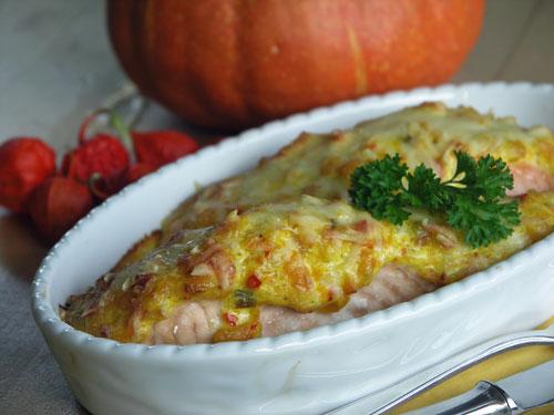 Salmon with Pumpkin Crust (Lachs mit Kürbiskruste)