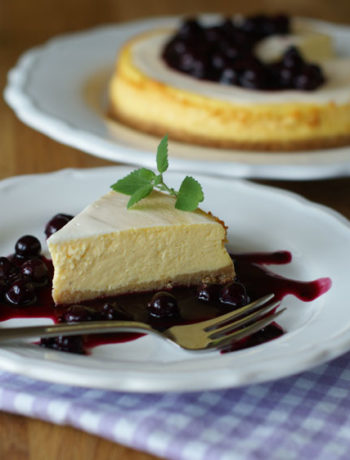 Deli-style Cheesecake mit Blaubeeren