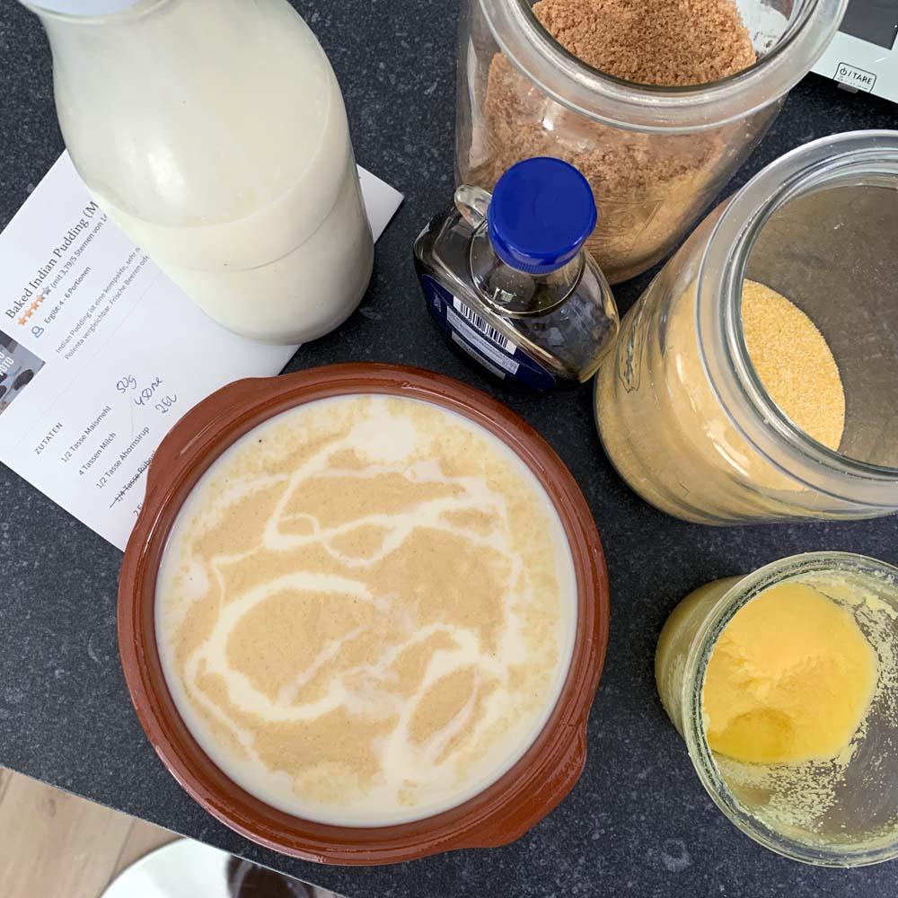 Baked Indian Pudding - Pudding aus Maismehl