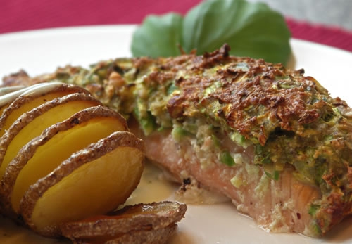 Salmon with Asparagus Crust (Lachs mit Spargel)