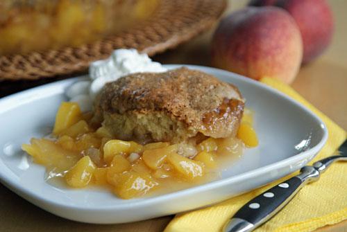 Rezept für Peach Cobbler - Pfirsichauflauf