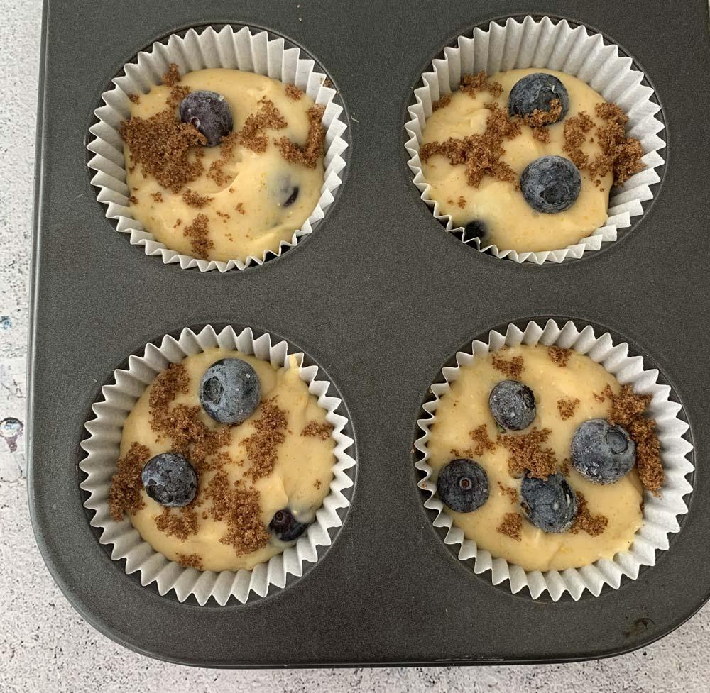 USA-Rezept für Blueberry Muffins