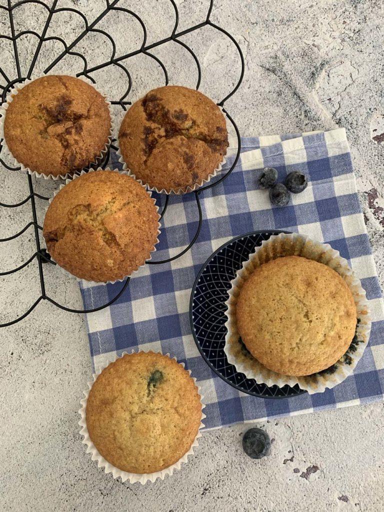 blueberry muffins blaubeer muffins – usa kulinarisch