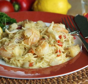 Rezept für Shrimp Lo Mein - Nudelgericht