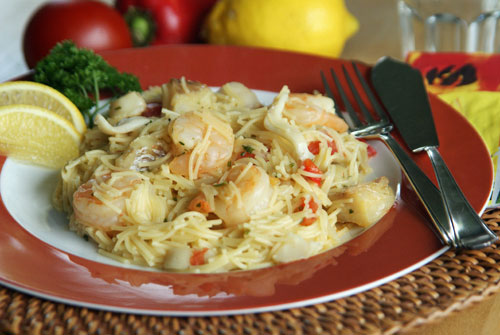 Shrimp Lo Mein (Nudeln mit Shrimps)