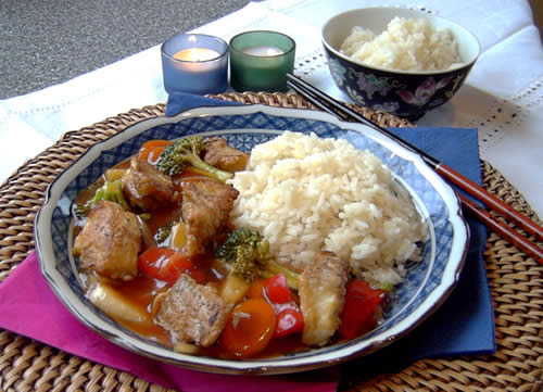 Sweet and Sour-Fish (süßsaurer Fisch)