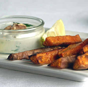 Sweet Potato Wedges / Süßkartoffel-Ecken