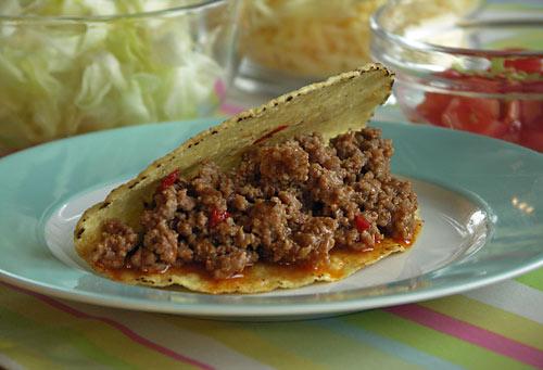 Tacos (gefüllte Maisschalen)