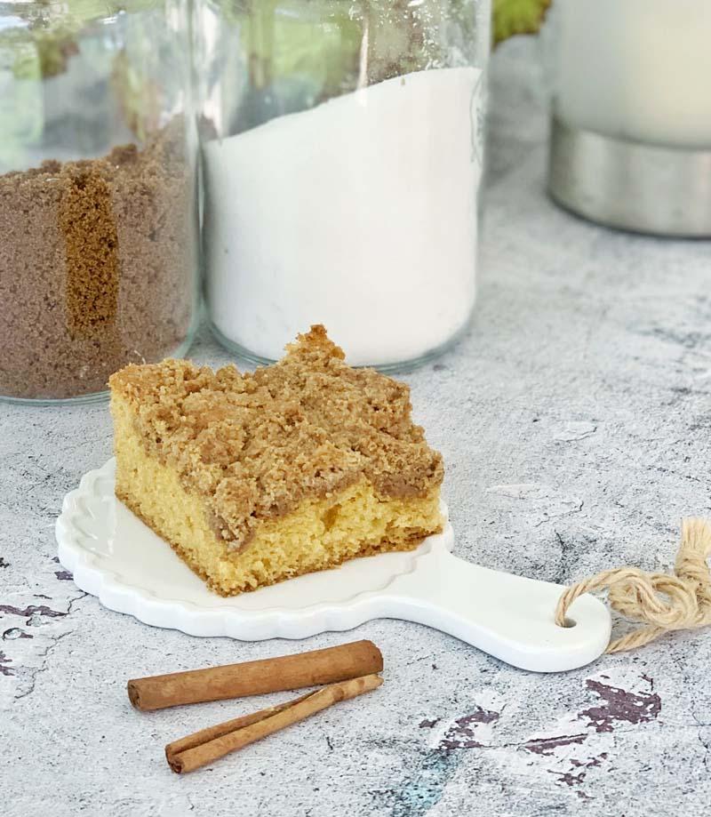 New York Style Crumb Cake - schneller amerikanischer Streuselkuchen