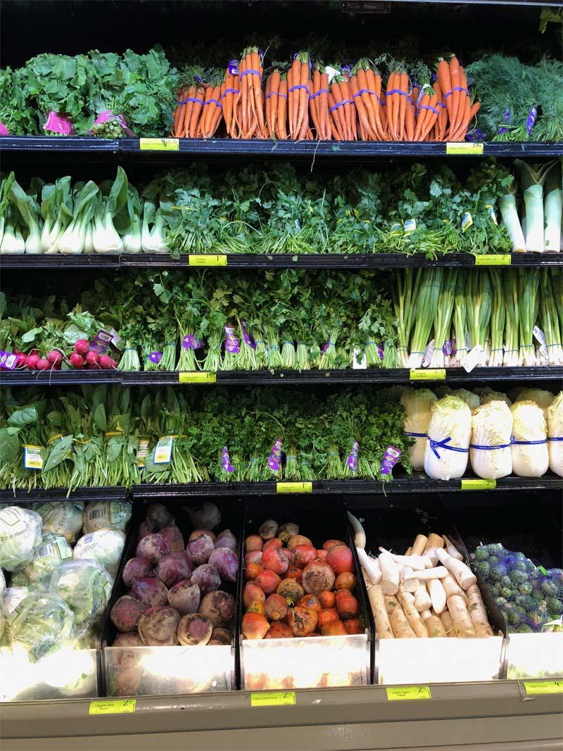 Salate im US-Supermarkt