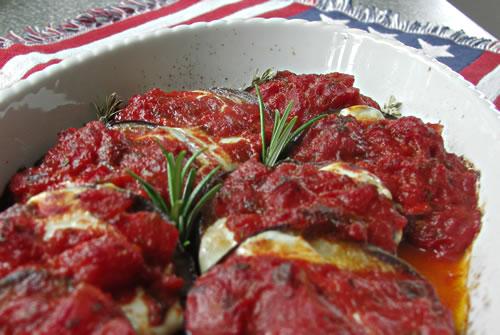 Olive Gardens Eggplant Parmigiana (Auberginen mit Käse)