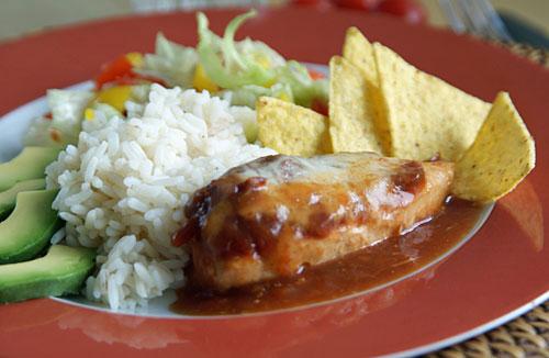 Salsa Chicken (Huhn mit Salsa-Sauce)