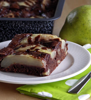 Rezept für Brownies mit Birnen
