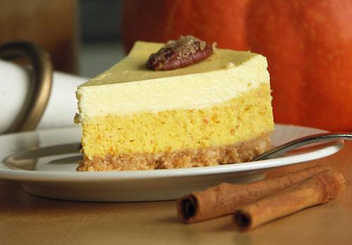 Pumpkin Pie Cheesecake (Kürbis-Käsekuchen)