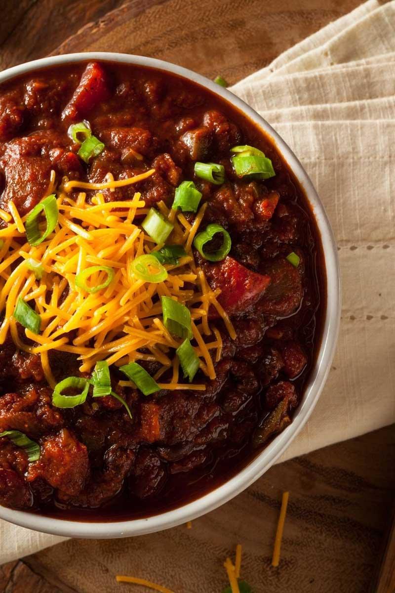 USA-rezept für Texas-Chili mit Fleischstücken und Bohnen