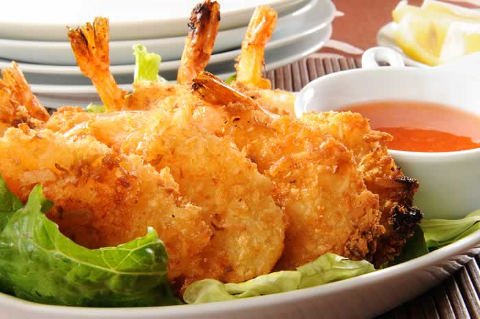 Fried Shrimps - fritierte Garnelen