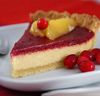 Cranberry Eggnog tarte / Cranberry-Kuchen mit Eierlikör