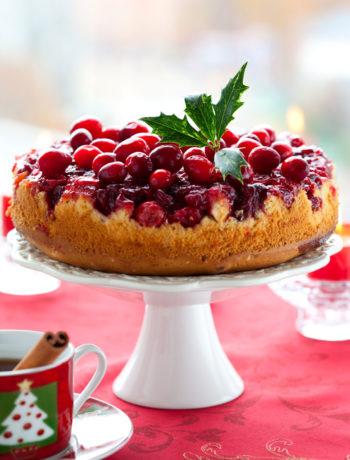 Cranberry Upside Down Cake / gestürzter Cranberry-Kuchen