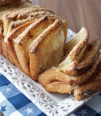 Rezept Cinnamon Pull Apart Bread / Zimt-Zupfbrot