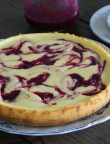 Rezept für White Chocolate Cranberry Cheesecake