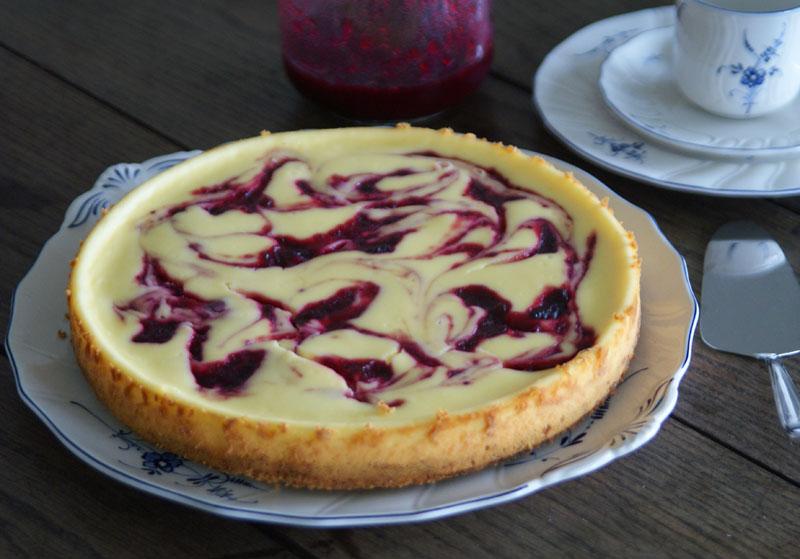Rezept für White Chocolate Cranberry Cheesecake
