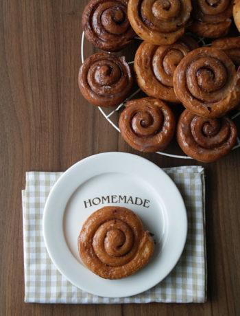 Rezept für Cinnamon Swirls / Zimtkringel aus der Friteuse