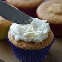 Cupcake bestreichen