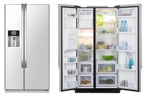 Side-by-Side-Kühlschrak von Haier - typisch amerikanisch