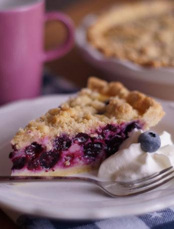 USA-Rezept für Blueberry Cream Pie