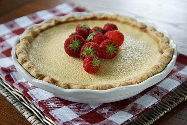 Rezept für Buttermilk Pie aus den USA / Buttermilchkuchen