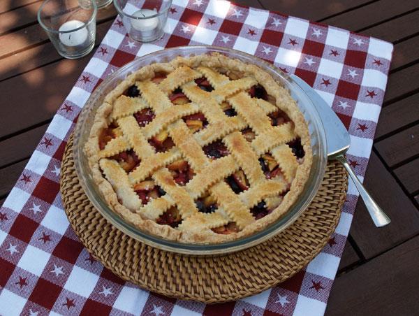 Rezept für Peach Pie aus den USA / Pfirsichkuchen