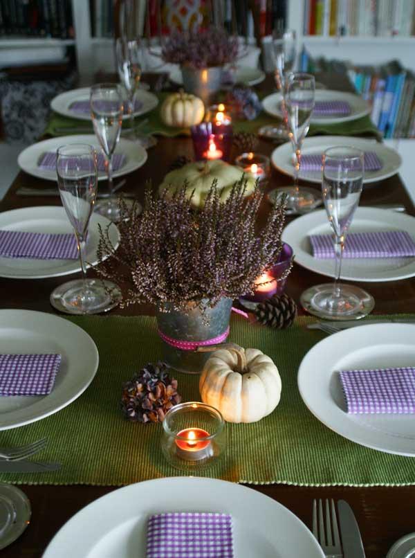 Thanksgiving-Tisch