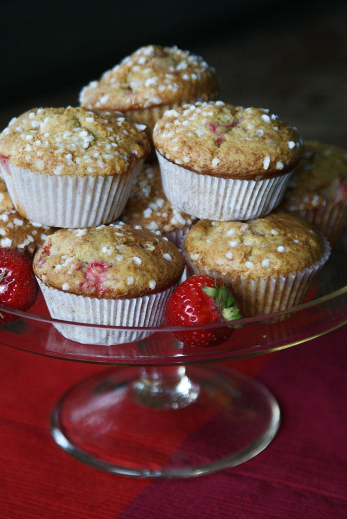 Strawberry-Joghurt-Muffins (Erdbeer-Joghurt-Muffins)