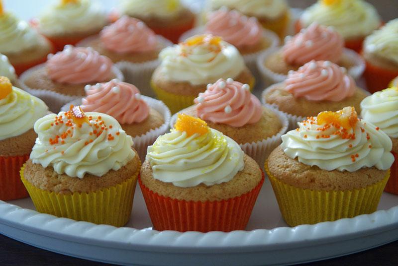 Orange Vanilla Bean Cupcakes - USA kulinarisch