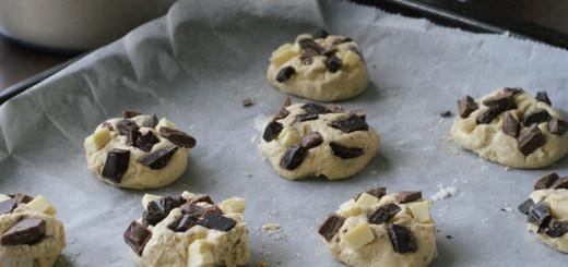 Cookie-Teig auf Blech