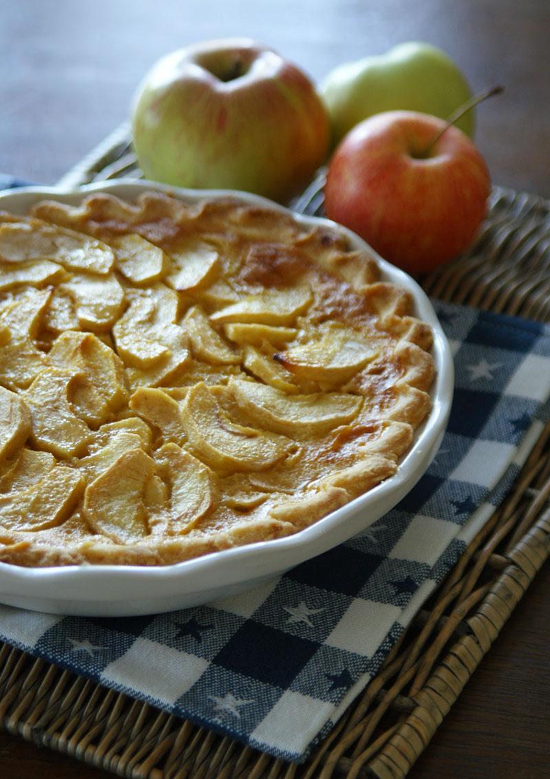Apple Chess Pie - Apfelkuchen mit Cremeguss