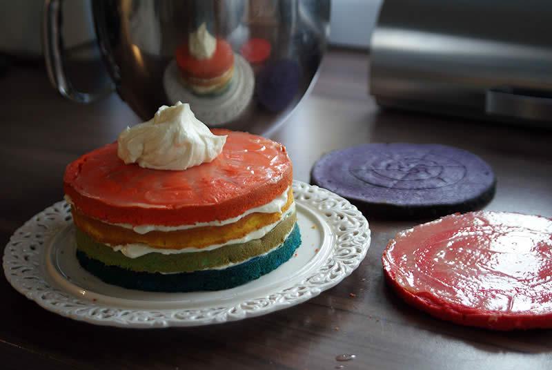 Rainbow-Cake (Regenbogen-Kuchen) – Schritt-für-Schritt-Anleitung