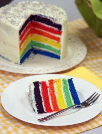 Fertoger Regenbogenkuchen