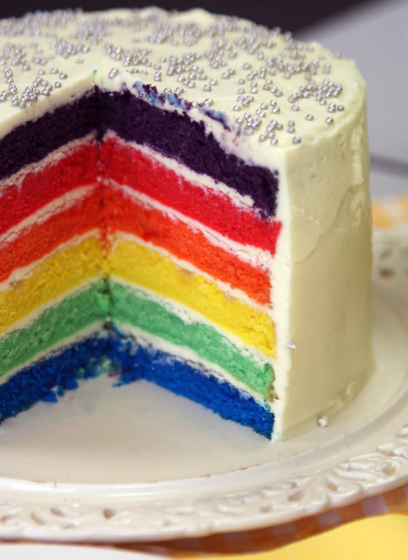 rainbow cake regenbogen kuchen schritt f r schritt. Black Bedroom Furniture Sets. Home Design Ideas