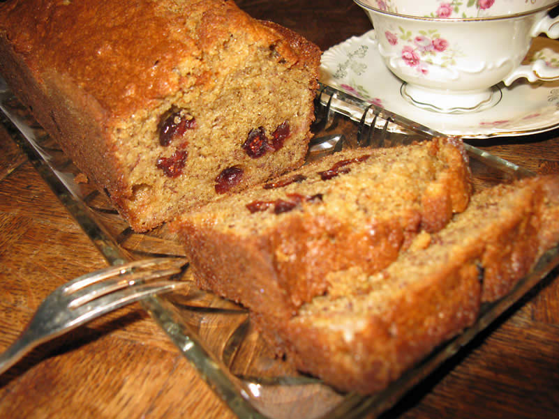 Banana Bread with Cranberries